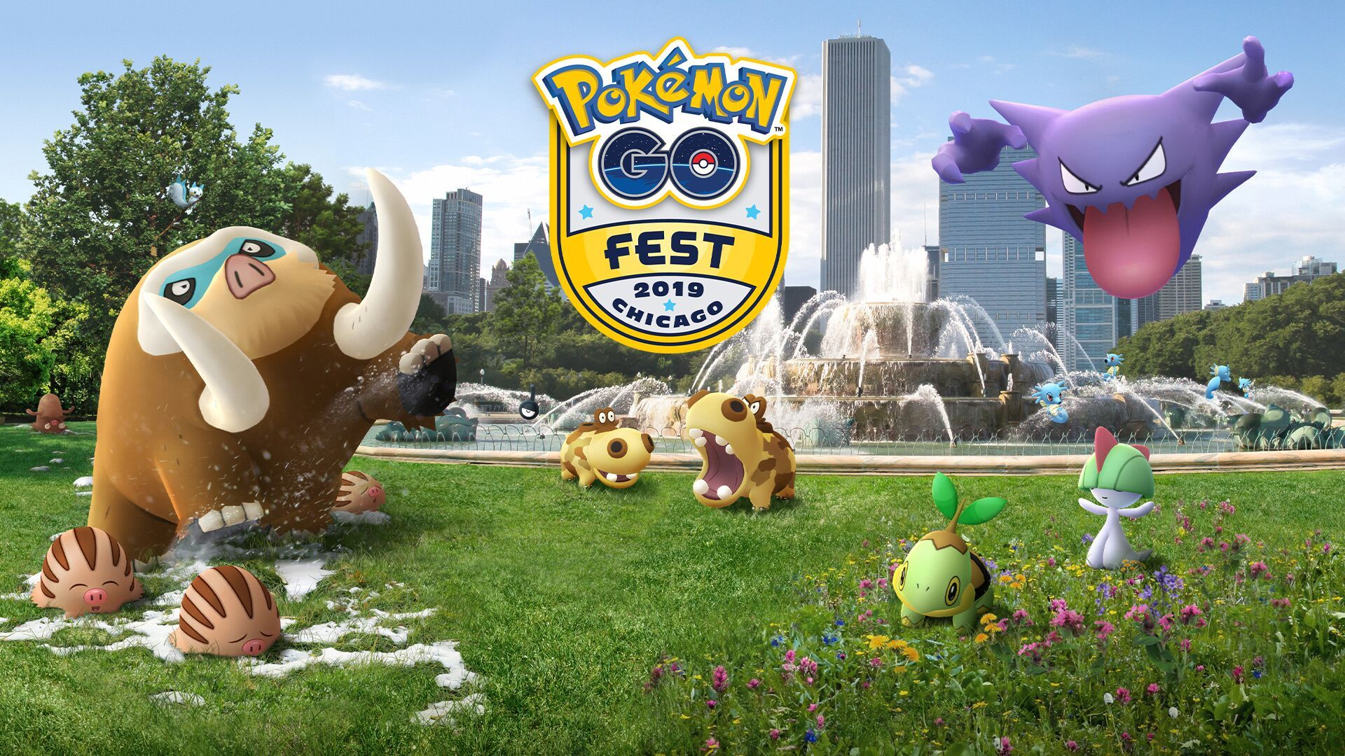 pokemon go fest chicago 2019 image logo pachirisu gallade shiny horsea
