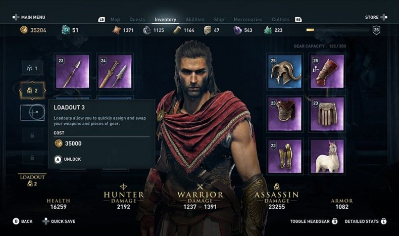 assassins creed odyssey loadouts