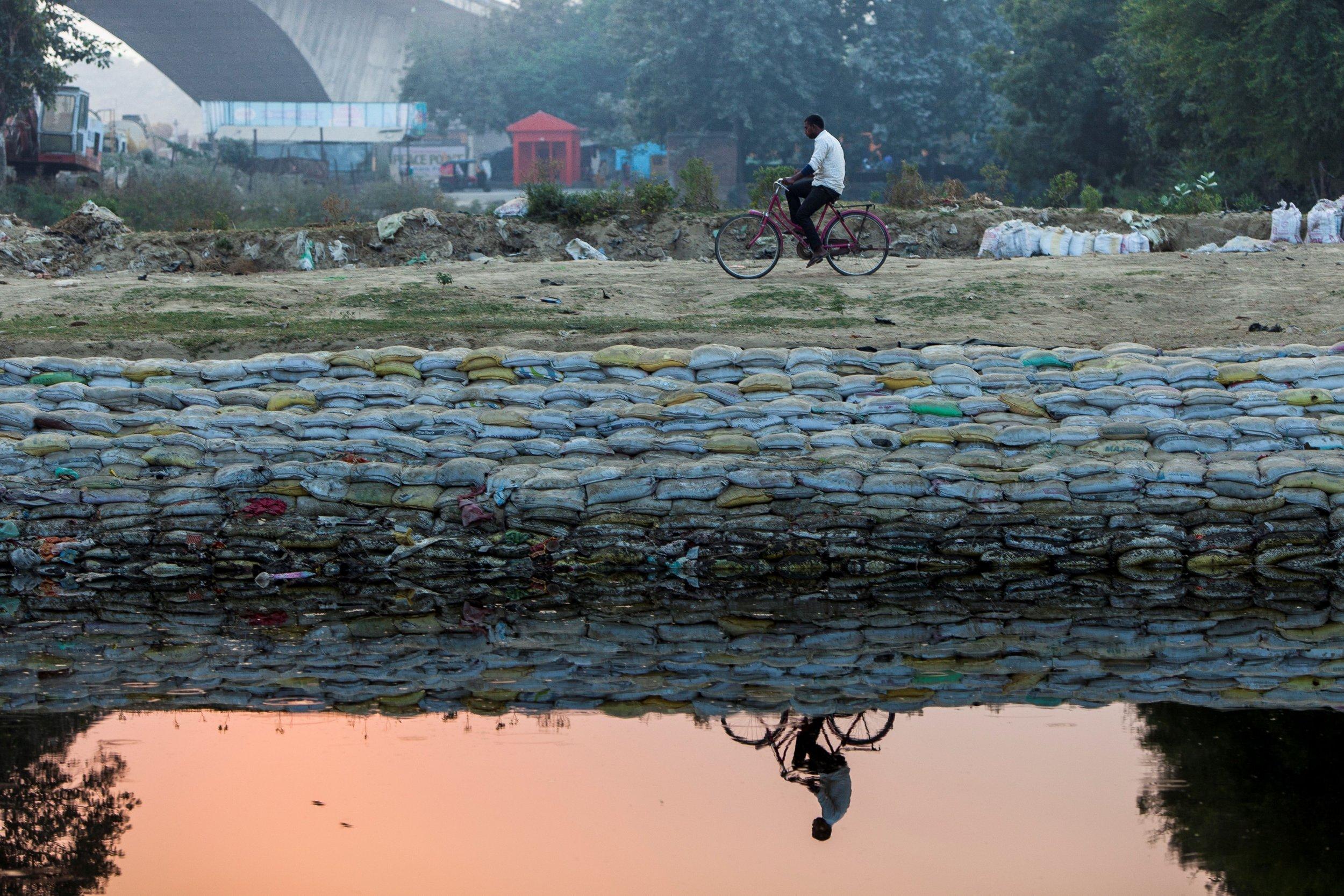 India, pond