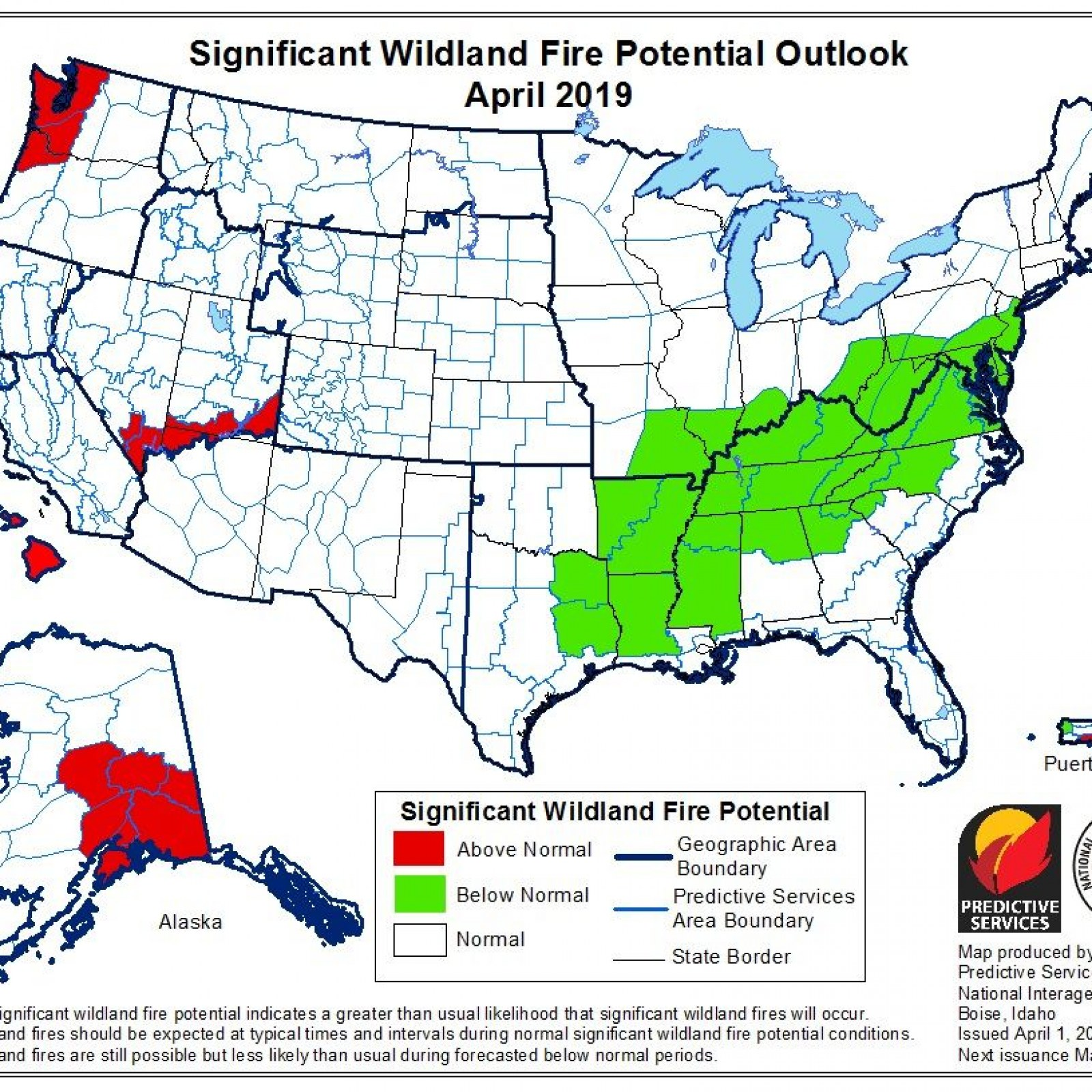 Wildfire Season Forecast For Spring Summer Month Shows Some Areas - Us-wildfire-activity-map