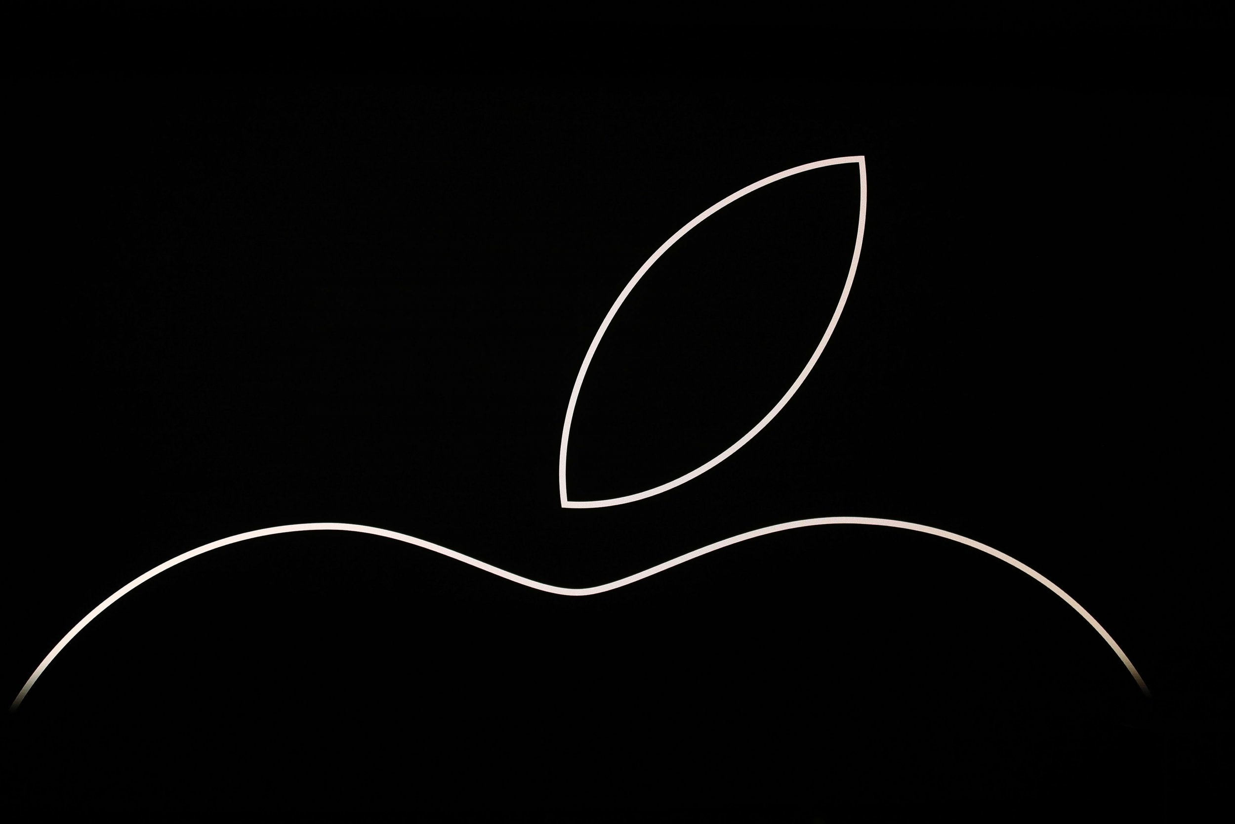 apple logo on stage