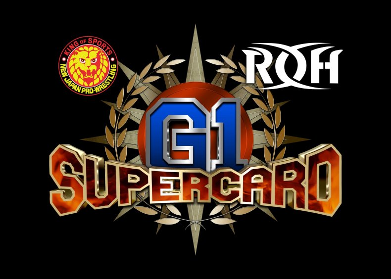 supercard-logo roh njpw g1 start time how to watch online card