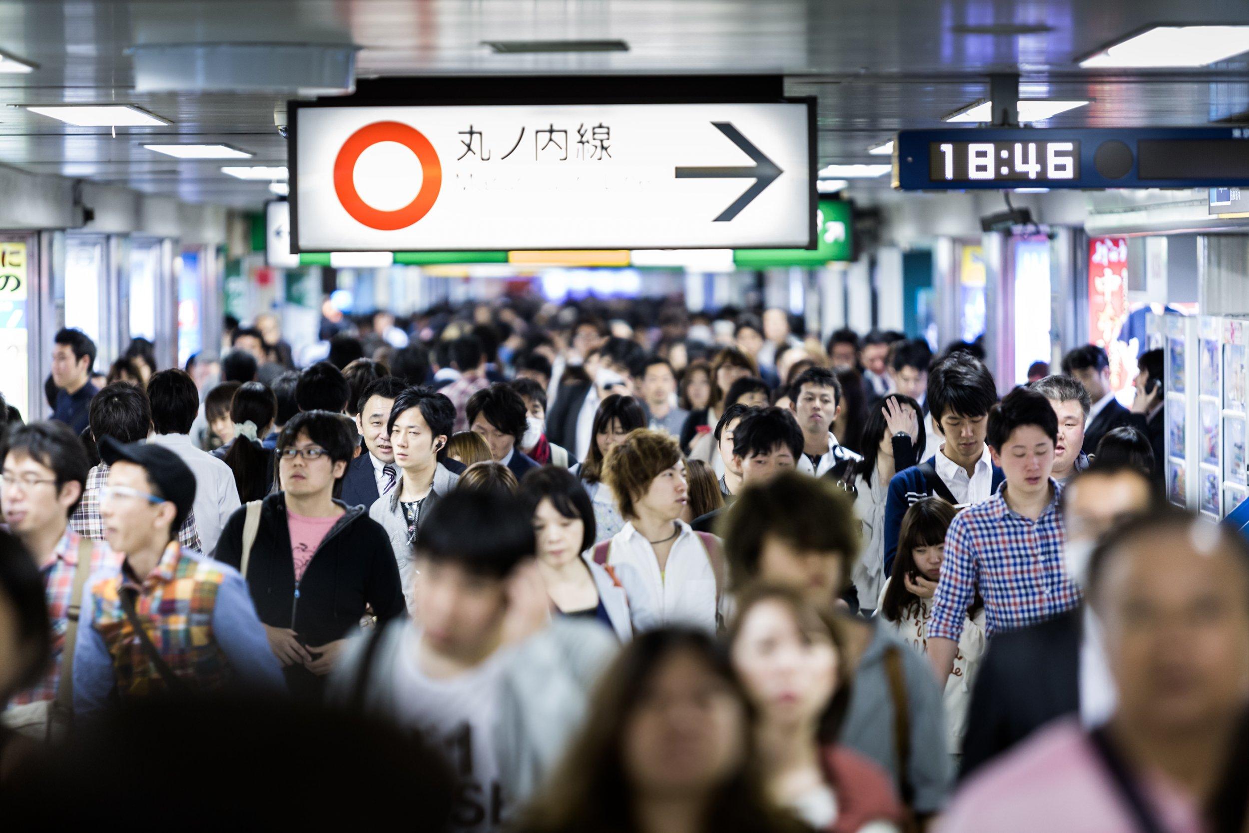 japan commute crowd stock getty