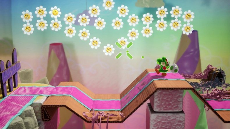 yoshis crafted world flower throw