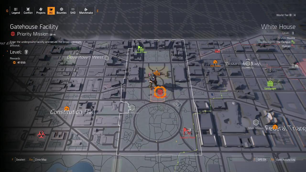 Division 2 gatehouse facility map
