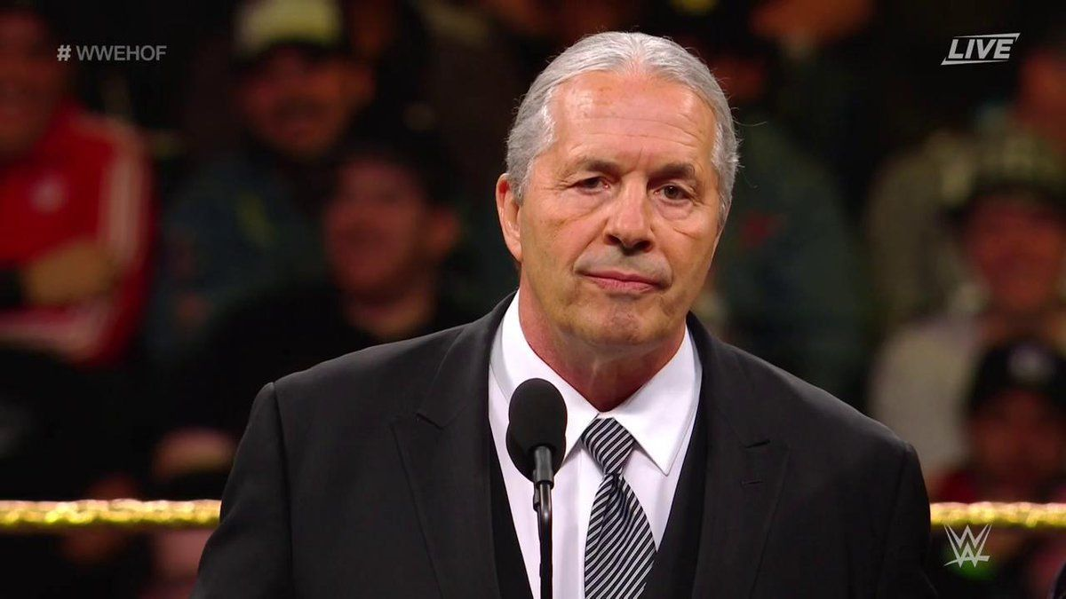 Fan tackles Bret Hart during WWE Hall of Fame speech
