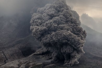 Mount Sinabung pyroclastic flow