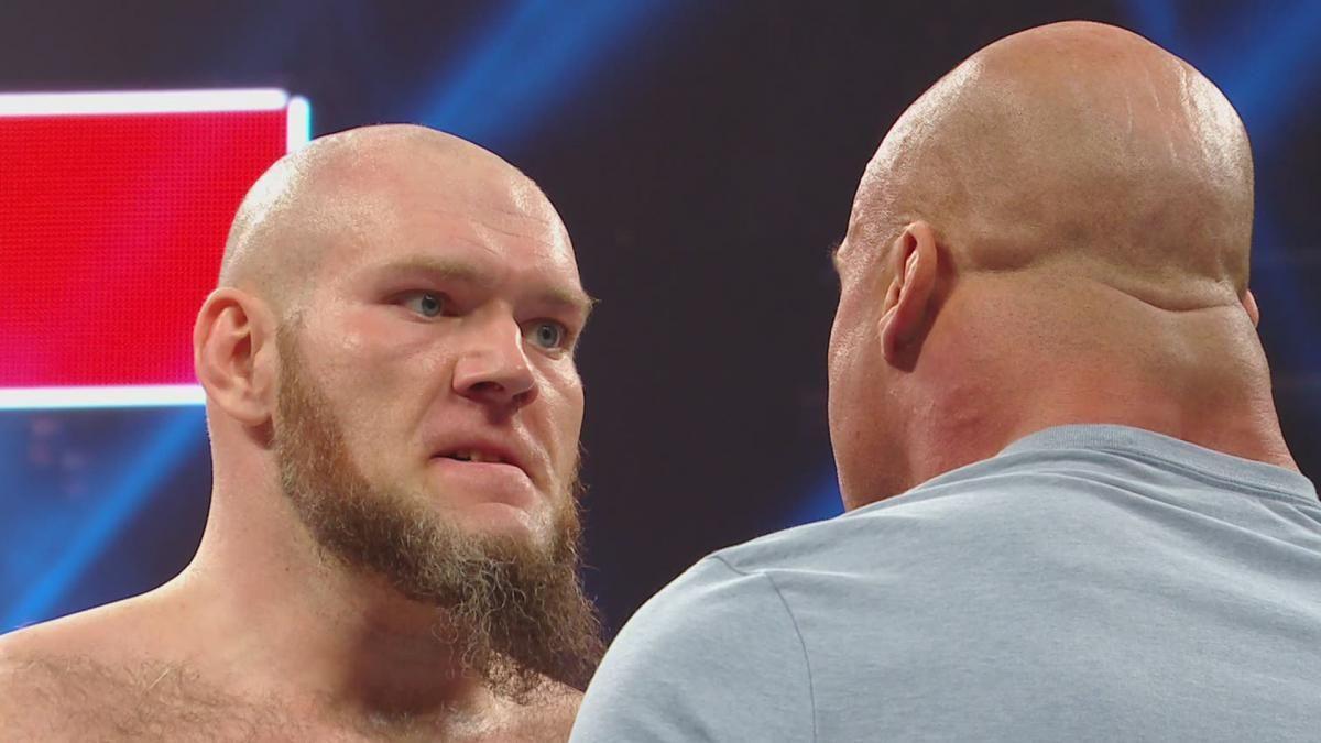 lars sullivan raw debut after wrestlemania kurt angle