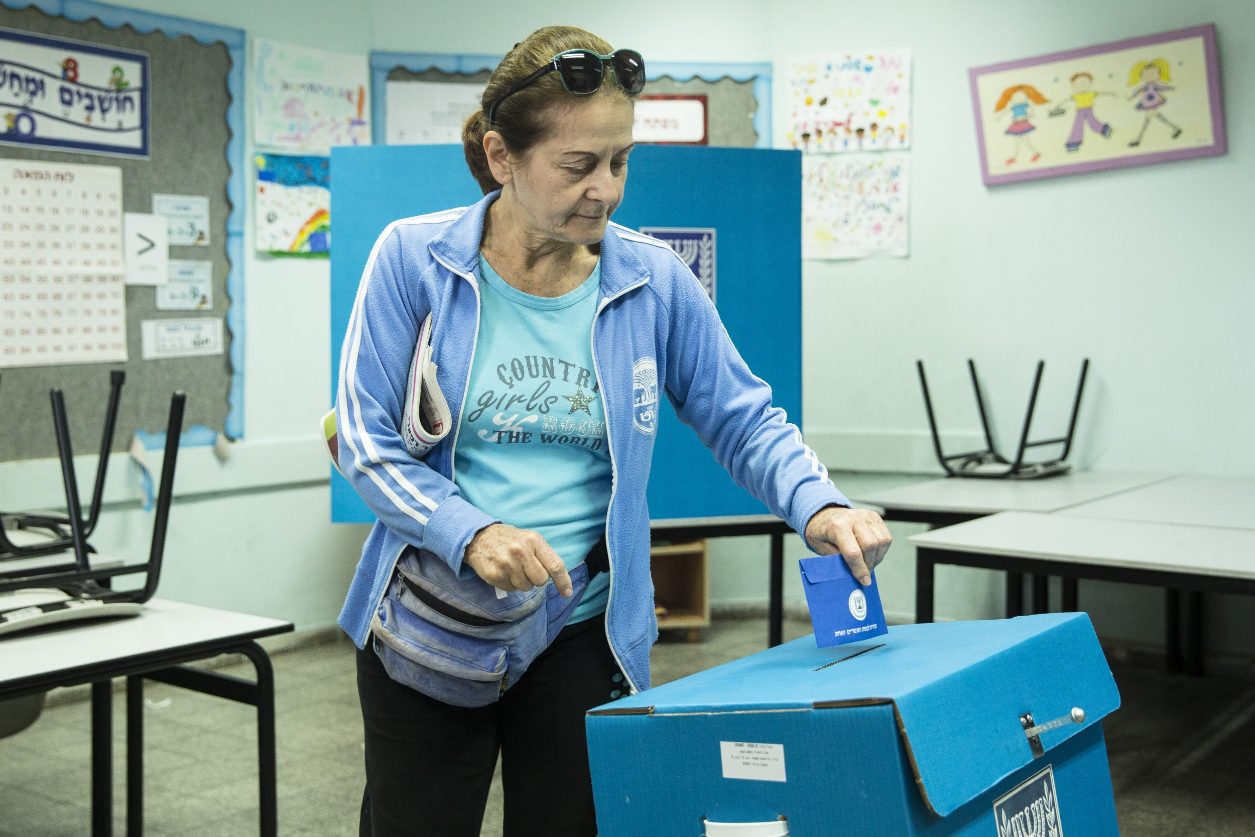 Israel elections ballot results poll Benjamin Netanyahu Benny Gantz