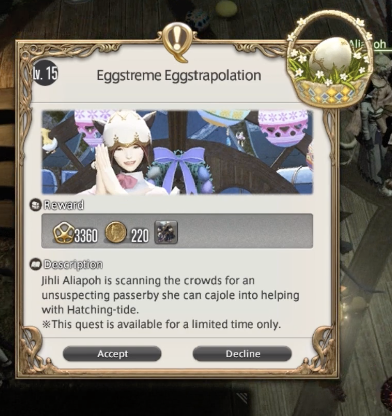 Ffxiv, egg, hunt, 2019, hatching, tide, guide, locations, gabineax, miounne, a, shelltered, eggsistence, one, three, five, spriggan, cap, easter, event