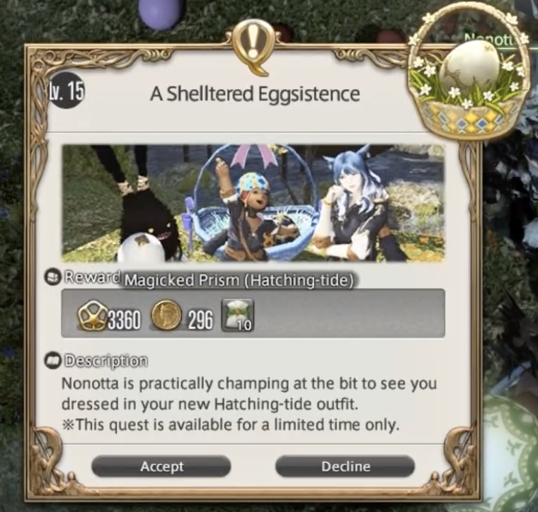 Ffxiv, egg, hunt, 2019, hatching, tide, guide, locations, gabineax, miounne, a, sheltered, eggsistence, one, three, five, spriggan, cap, easter, event