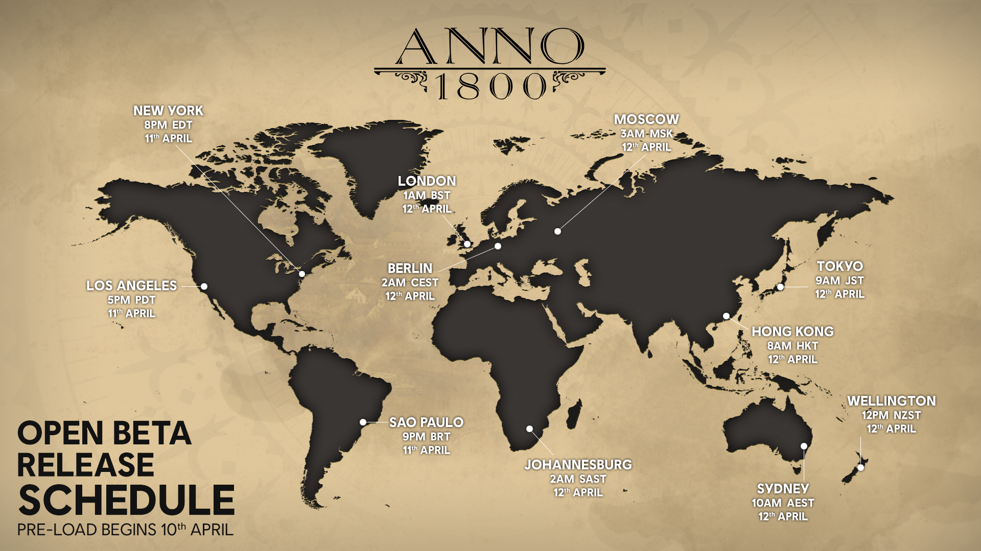 Anno, 1800, open, beta, download, preload, start, time, end, when, pc, epic, uplay, ubisoft