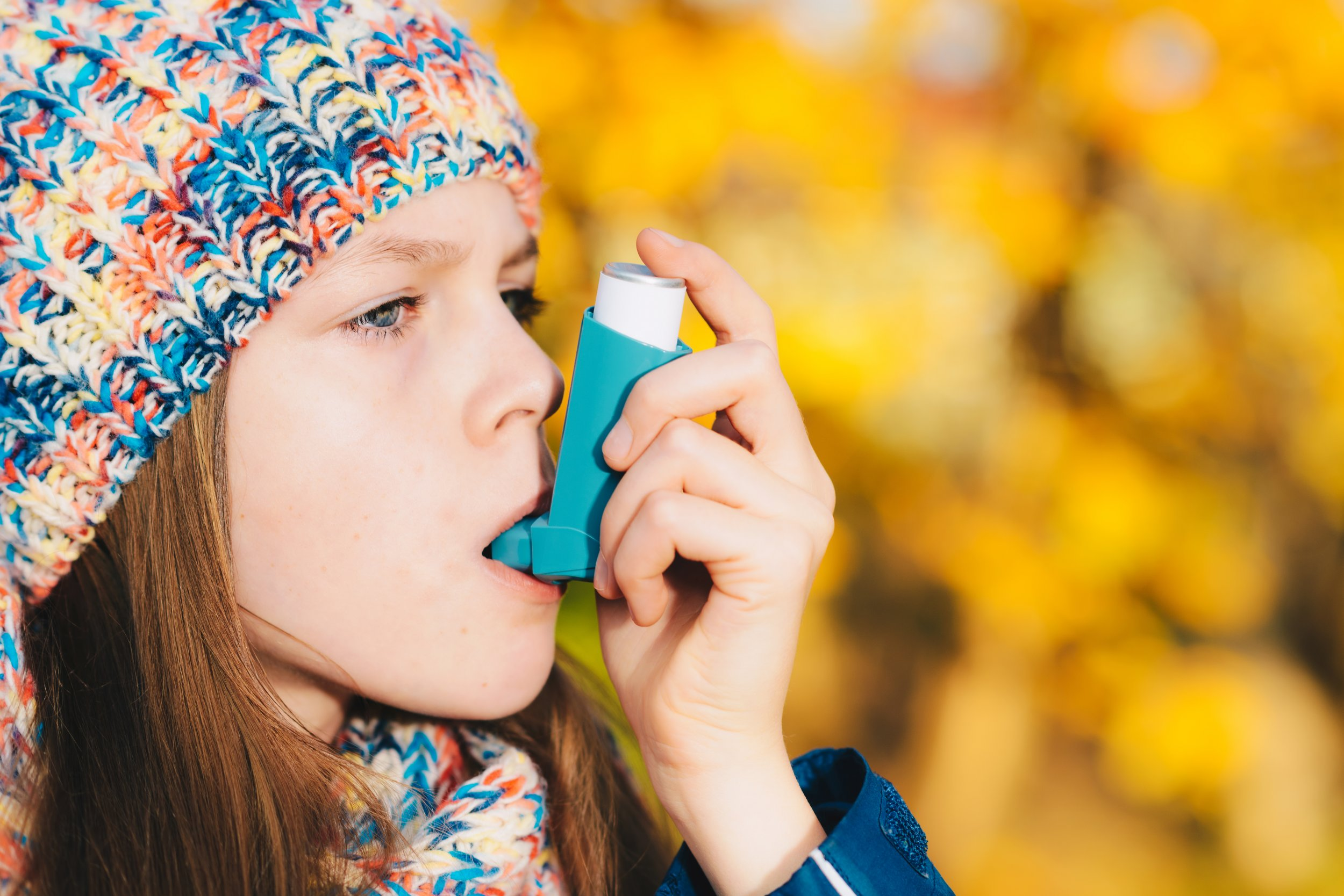 asthma pollution child fall health stock kid stock getty