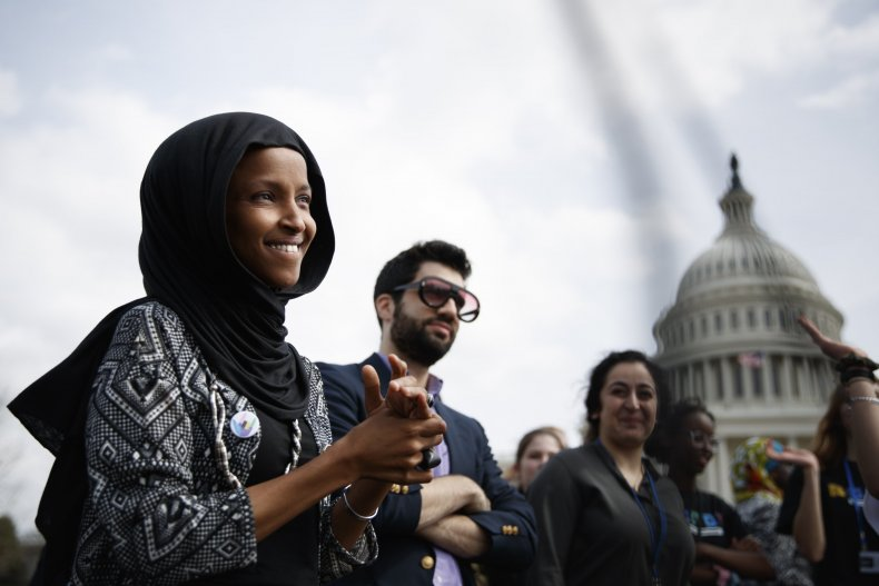 Ilhan Omar, doubles down, Stephen Miller, white nationalist