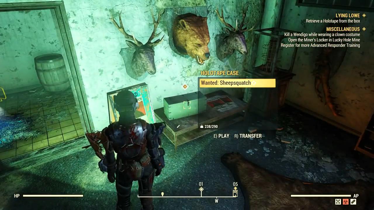 Fallout 76 lowe down holotape