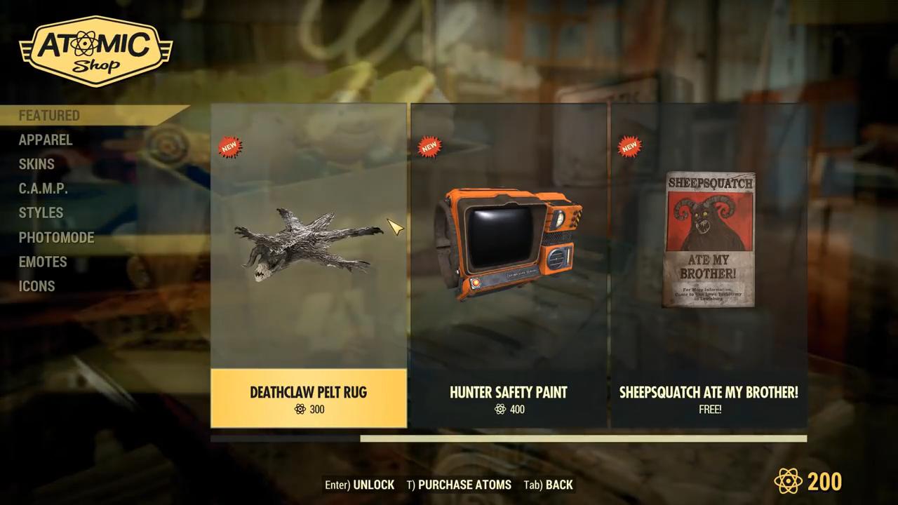Fallout 76 lowe down sheepsquatch poster