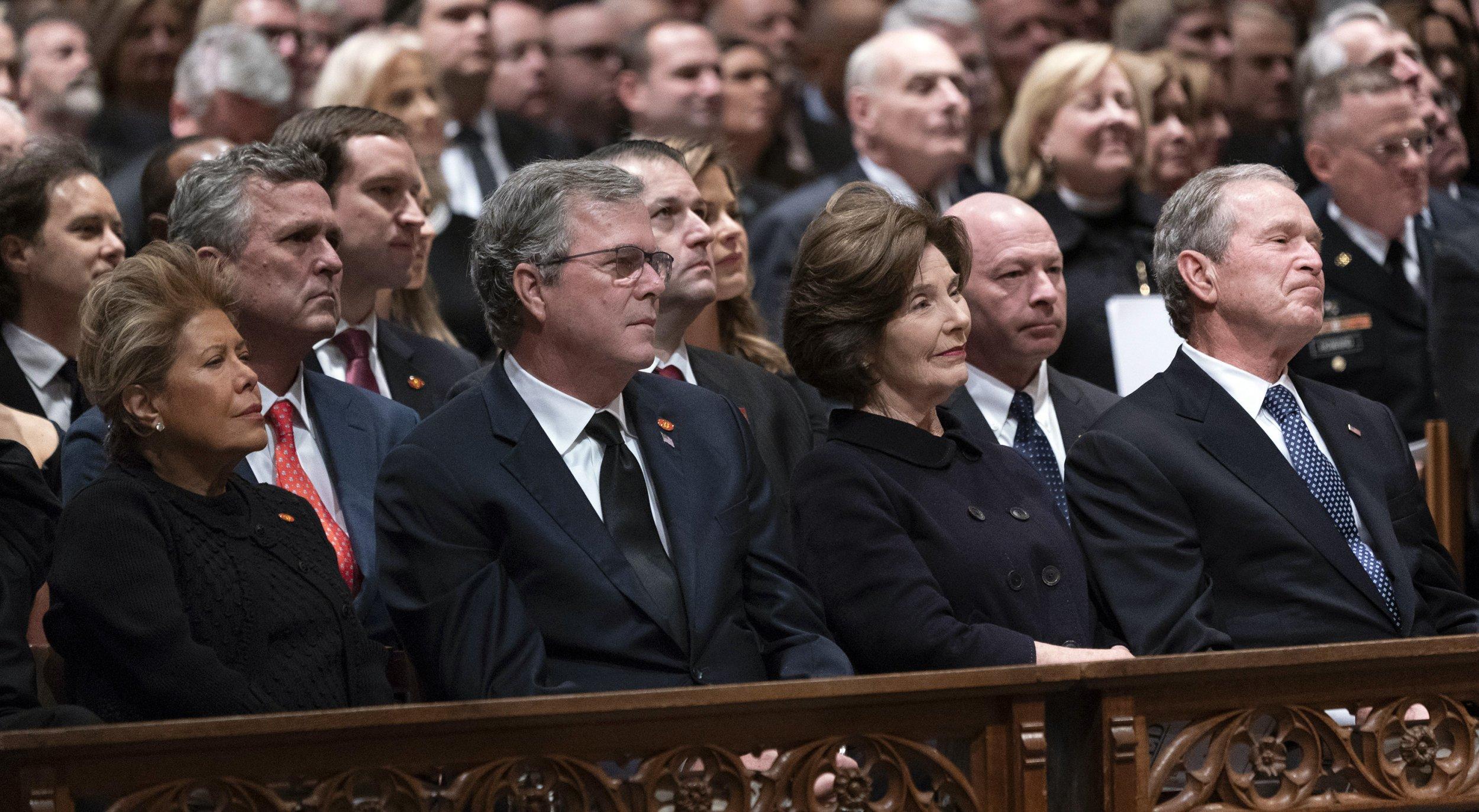 George and Jeb Bush