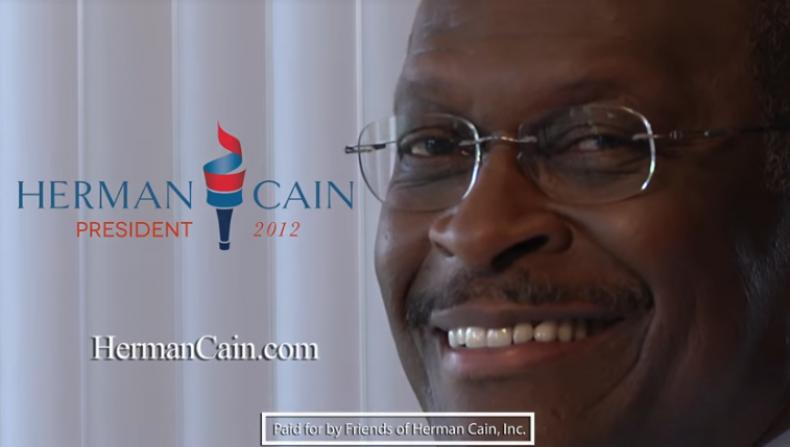 herman cain 2012 smoking ad