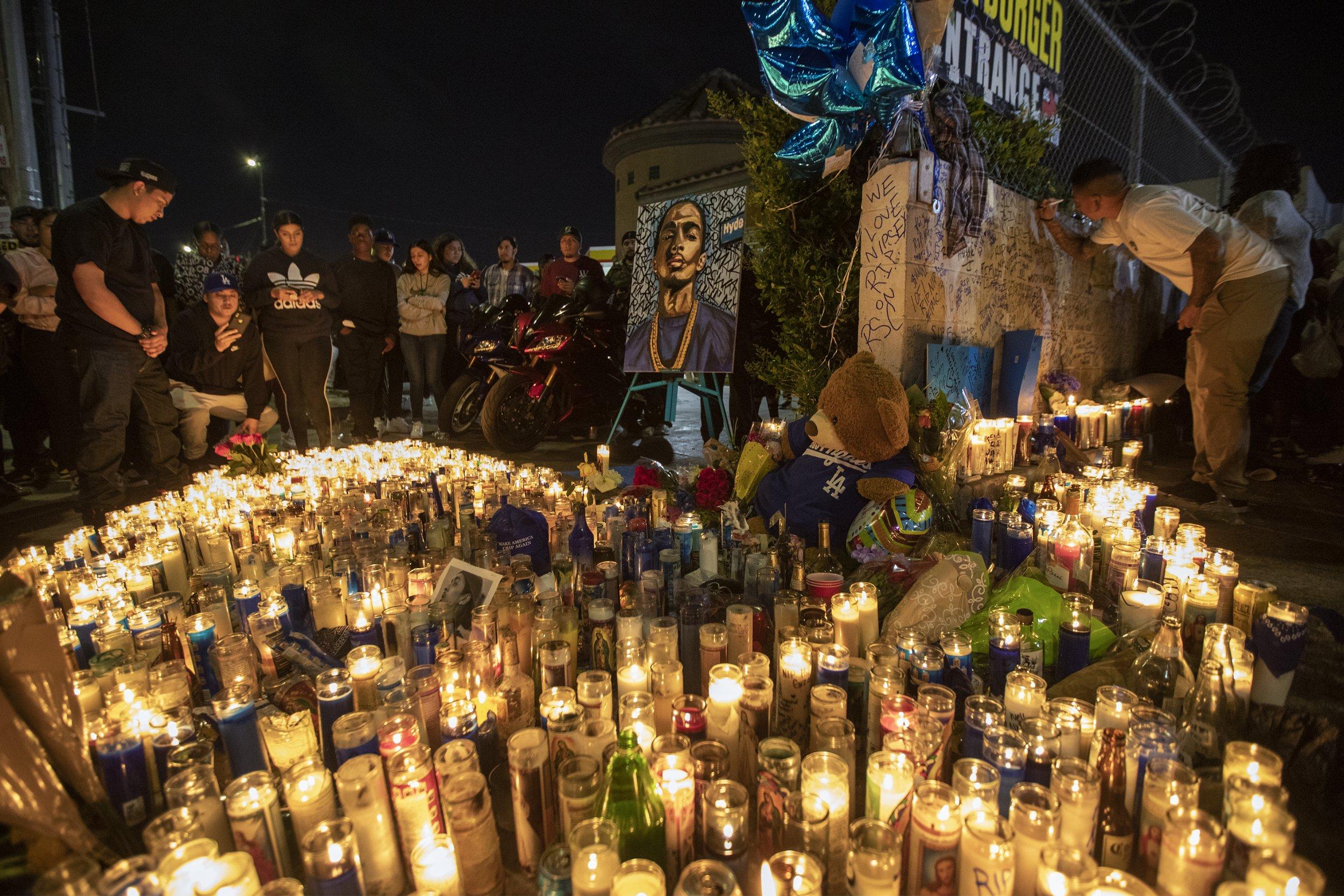 Nipsey Hussle, mourners