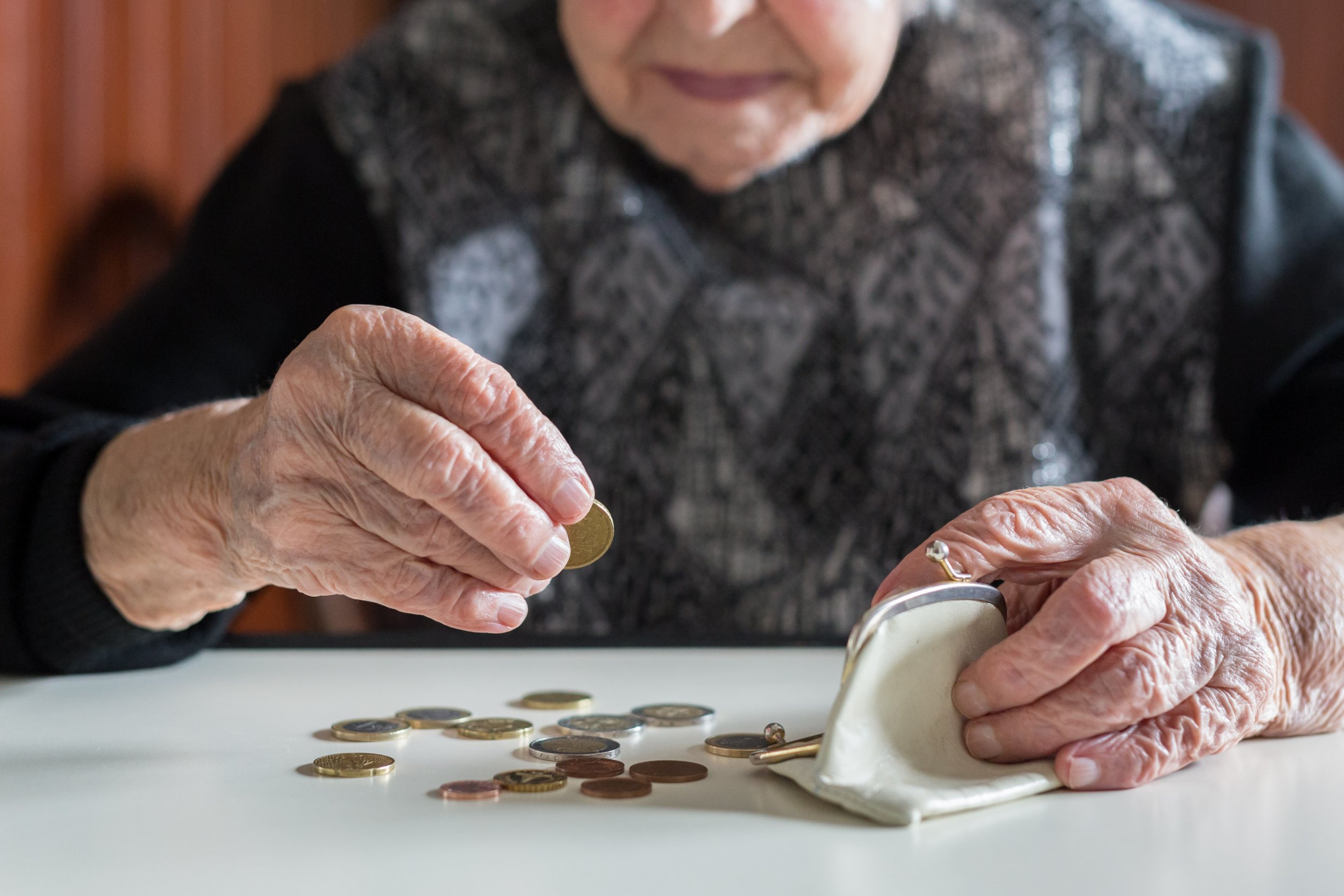 old woman elderly money stock getty