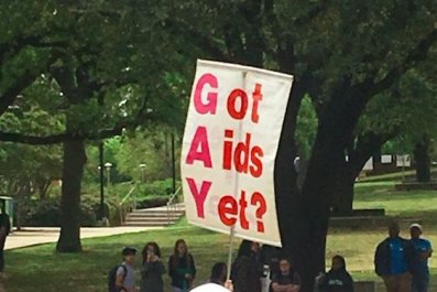 university of north texas street preachers protest