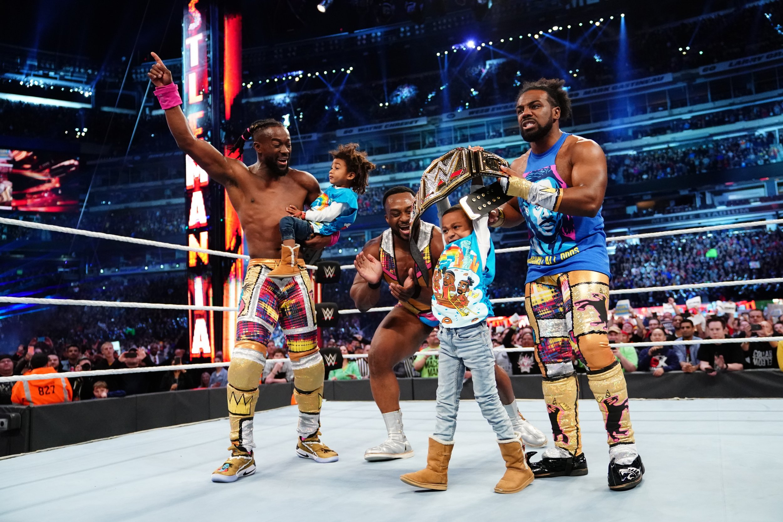 kofi kingston new day wrestlemania 35 kids