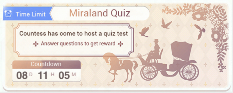 Love, nikki, miraland, quiz, answers, april, 2019, questions, feather, pens, tips, guide, cheats