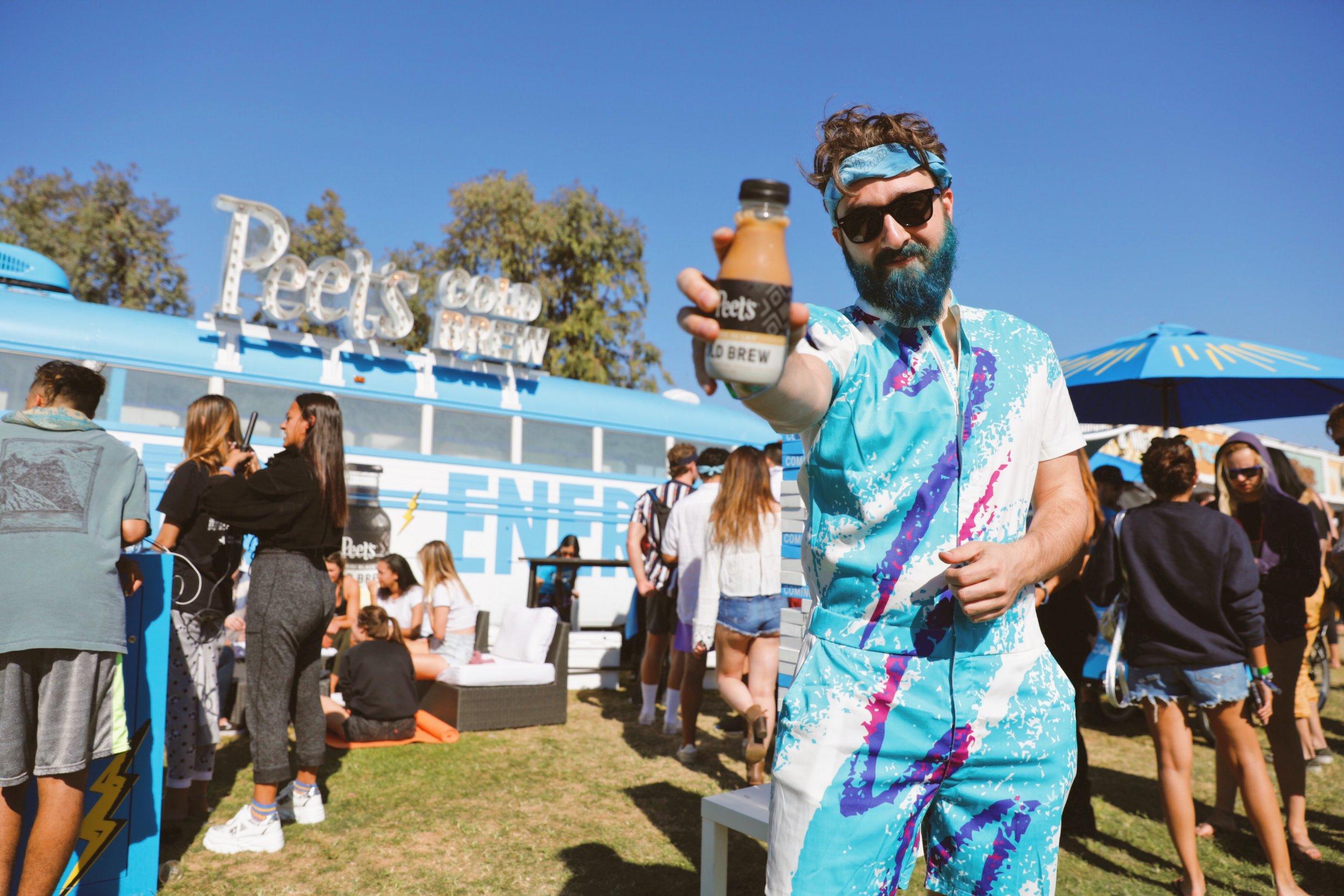 Peet's Cold Brew at Coachella