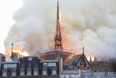 notre, dame, cathedral, fire, paris, photos