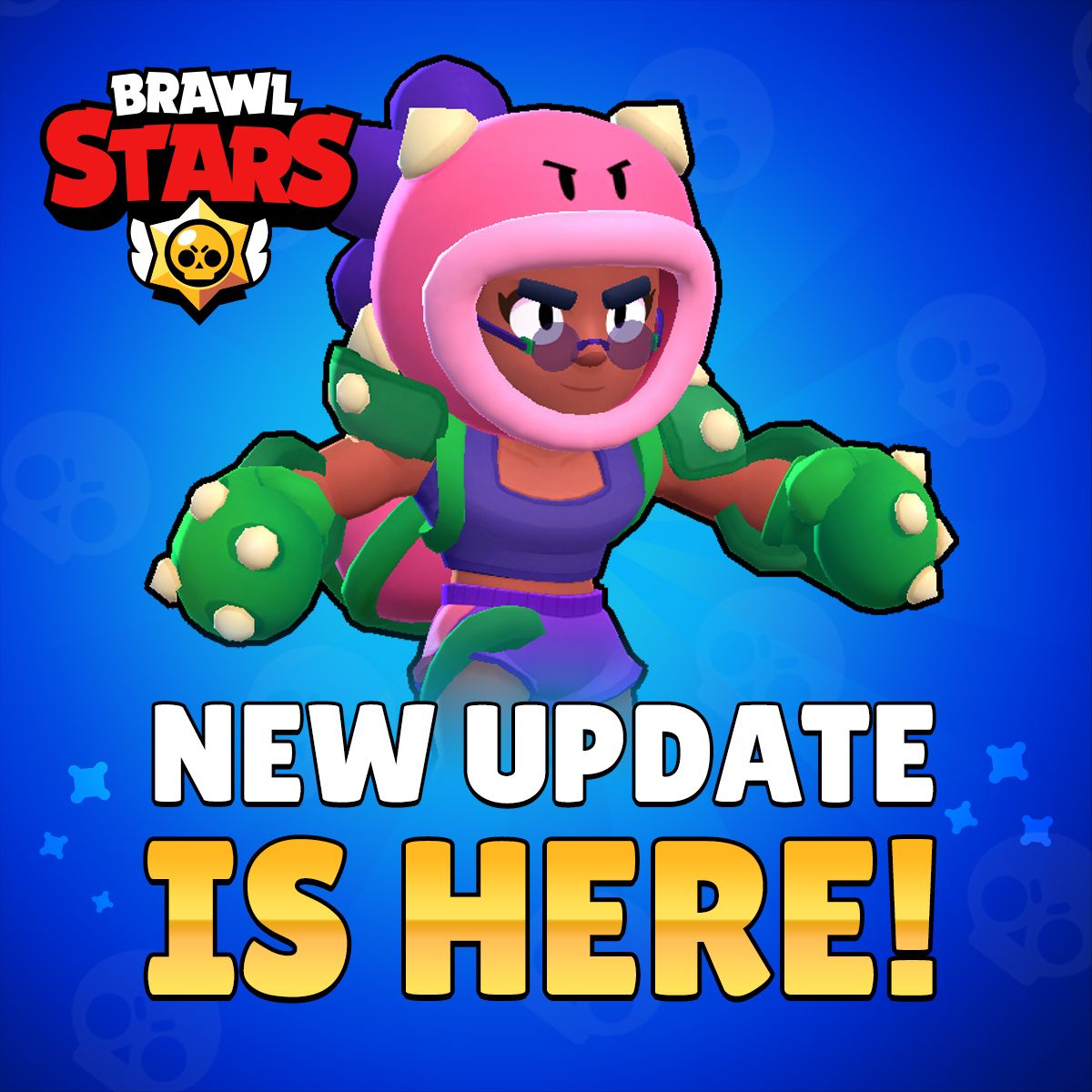 brawl strars new update colored name changes new brawler rosa - change name fortnite