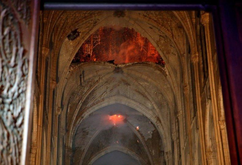 Notre Dame Fire (Inside)