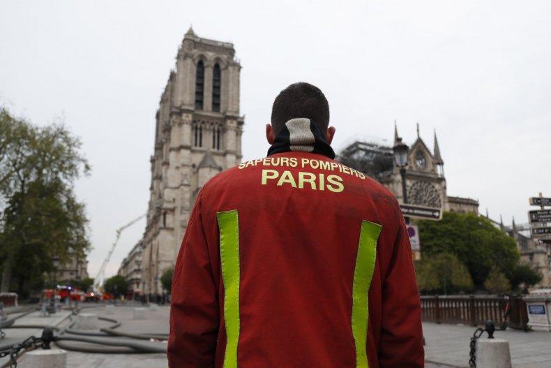 Notre Dame fire extinguished firefighters Paris