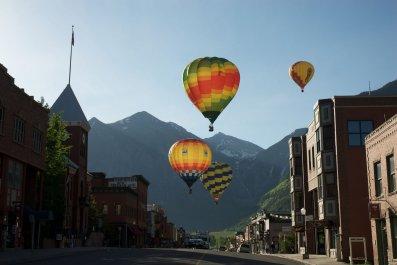 Telluride hot air balloons