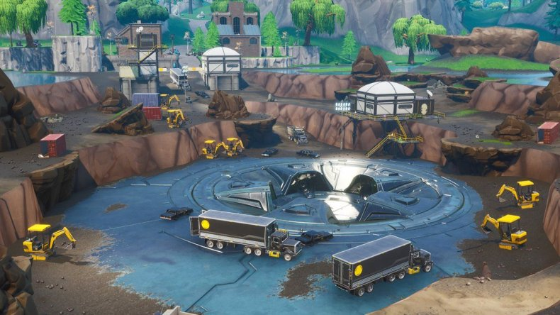 What Does Datamining Mean On Fortnite Fortnite Loot Lake Event Leak Giant Laser Uncovered By Dataminers In Dig Site