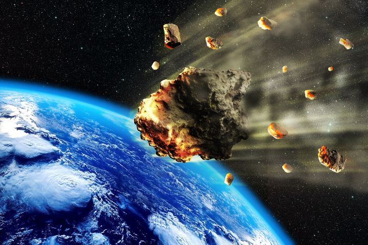 asteroid earth artist impression