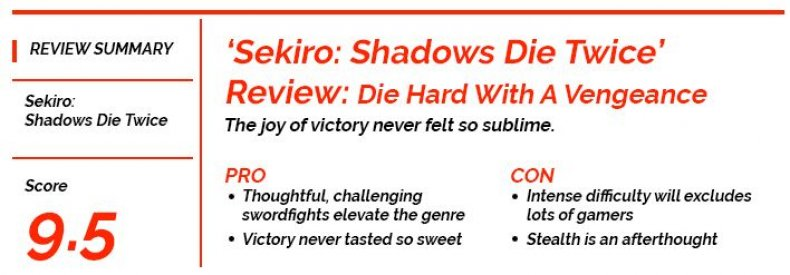 Newsgeek Review Score Sekiro Shawdows Die Twice
