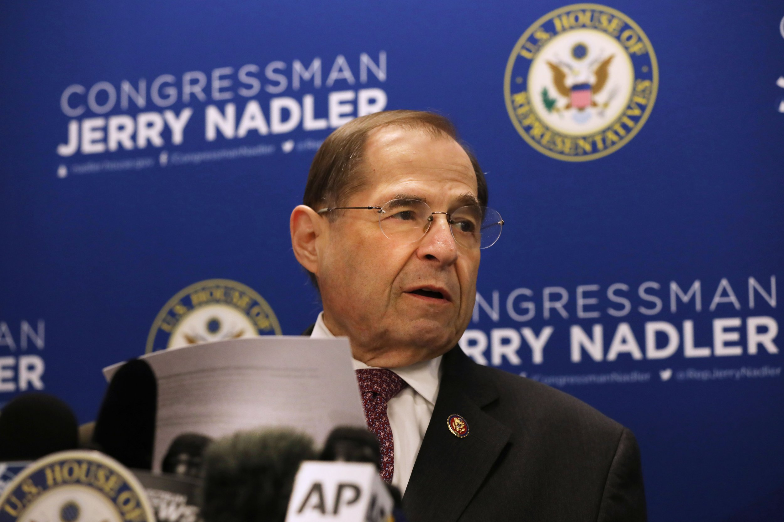 Jerry Nadler, Mueller report, Trump impeachment