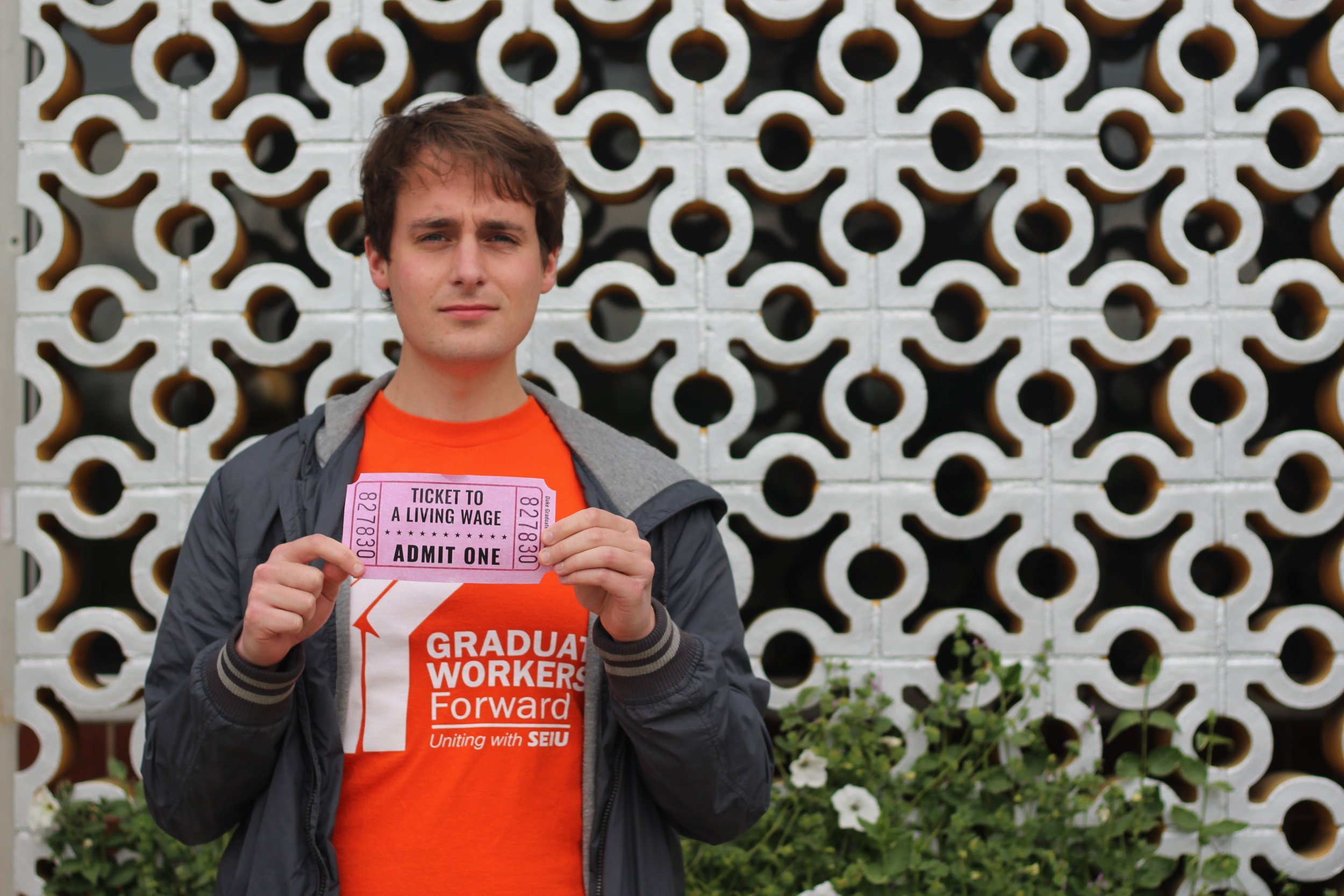 Duke University graduate student union living wage