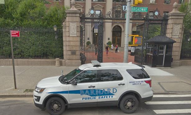 barnard college public safety officers racist student