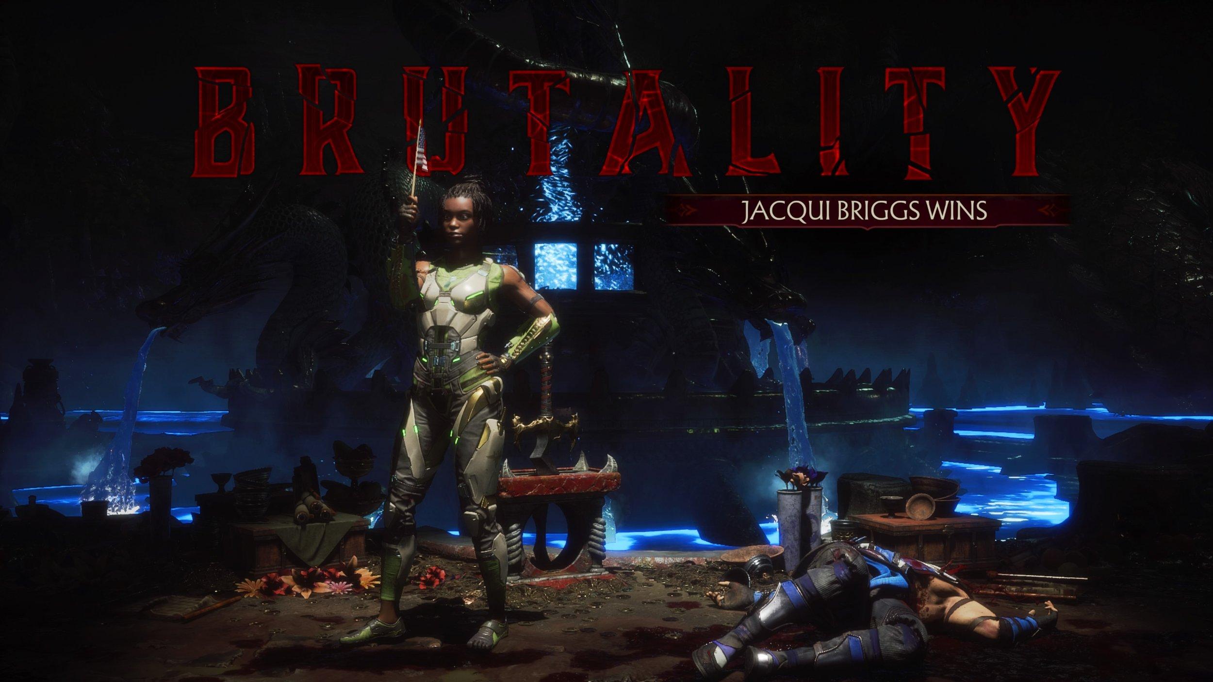 mortal kombat 11 brutality list jacqui briggs