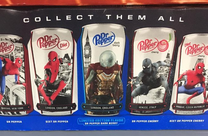 Dr, pepper, dark, berry, new, flavor, locations, where, to, buy, release, date, limited, edition, mysterio, spider, man, far, from, home, soda, target, walmart