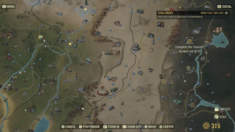 fallout 76 highlighted map
