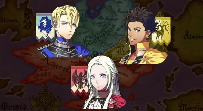 fire emblem three houses house differences black eagles golden deer blue lions
