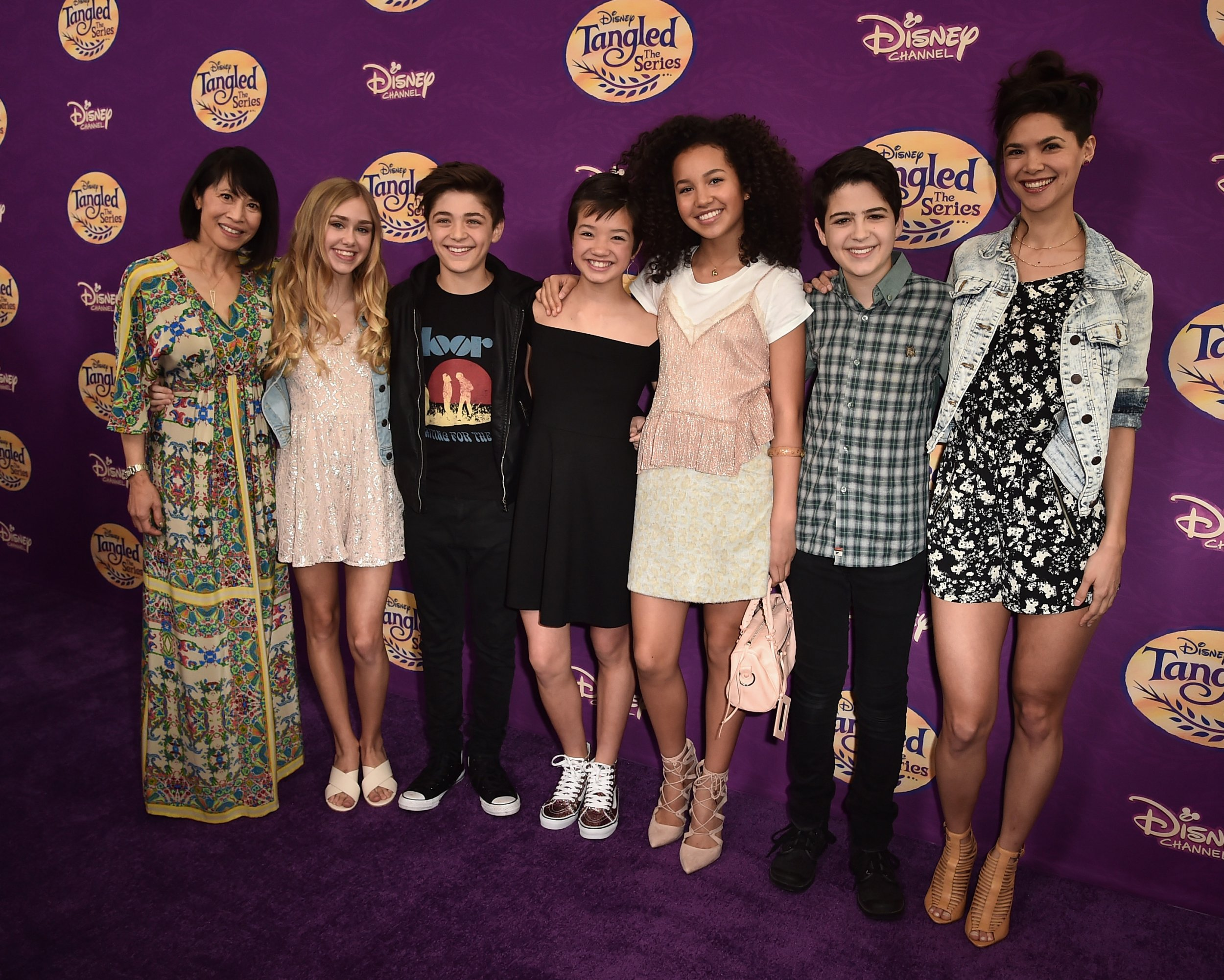 Andi Mack Cast Together At Tangled Premire