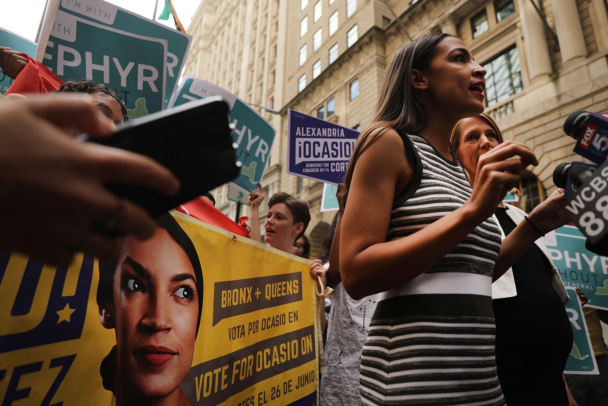 Alexandria Ocasio-Cortez, Joe Biden, Justice Democrats