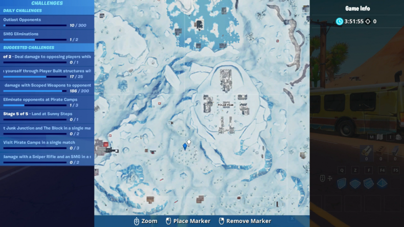 fortnite 3 ice sculptures