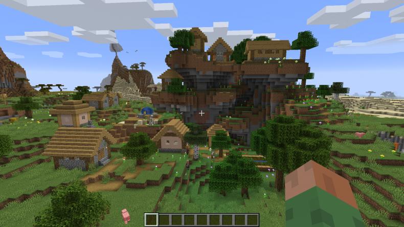 Best, minecraft, 1, 1, 4, seeds, new, update, java, pc, village, pillage