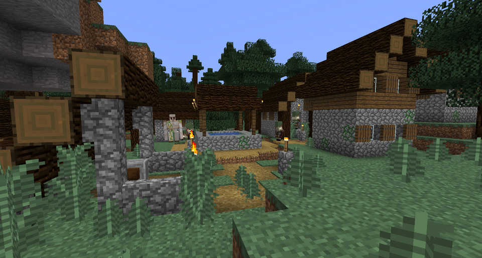 Best, minecraft, 1, 1, 4, seeds, new, update, java, pc, village, pillage,