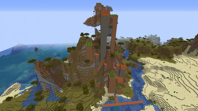 Best, minecraft, 1, 1, 4, seeds, new, update, java, pc, village, pillage,