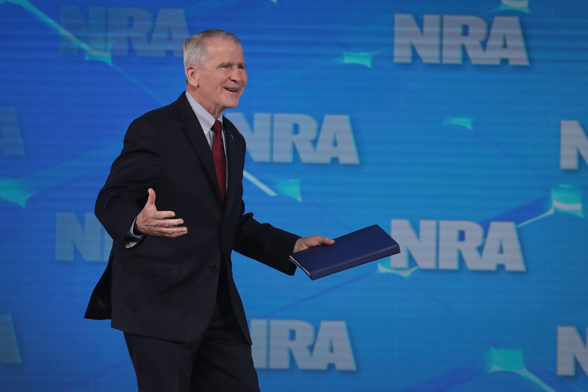 NRA President Oliver North Ousted after Extortion Allegations